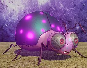 ladybug 3D model animated