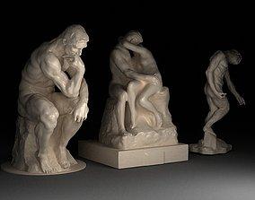 3 Sculptures by Auguste Rodin - 3D models print