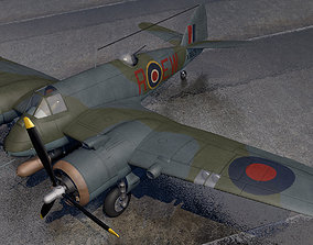 3D model Bristol Beaufighter Mk-10