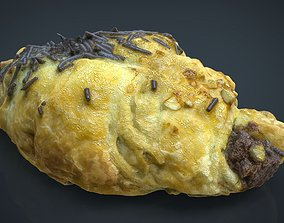 Chocolate Croissant 3D model