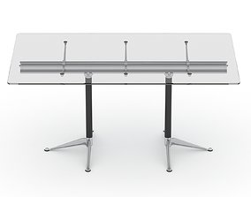 3D model stationery Herman Miller Burdick Table 1