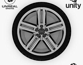 3D model Wheel Steel-Chrome Alloy Rim Audi 19 inch 2