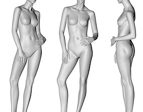 female mannequin hands on the stomachs 3d print model