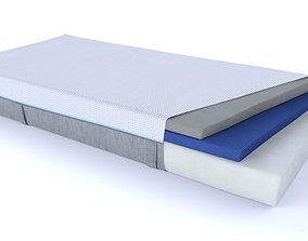 Mattress with foam layers 3D