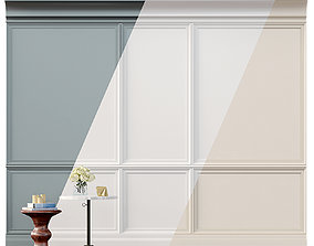 Wall molding 2 Boiserie classic panels 3D model