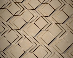 Modern Wood Tiles PBR tileable texture 3D model