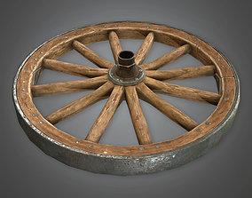 DVB - Wagon Wheel - PBR Game Ready 3D model
