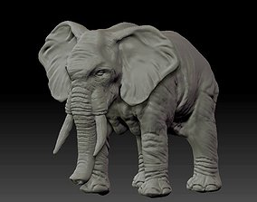 3D printable model animal Realistic Elephant