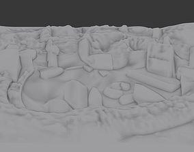 3D printable model Urfa Gobeklitepe archeologic site