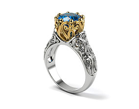 3D print model Vintage style wedding ring