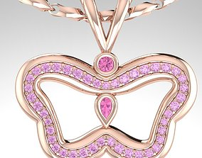 Stylish modern pendants Butterflies 3D printable model