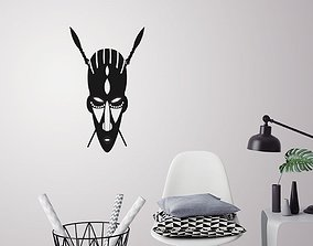African mask wall decoration 3D printable model