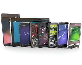 Mobile Devices Pack 3D model realtime