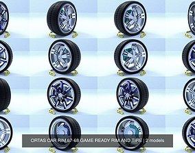 3D model ORTAS CAR RIM 67-68 GAME READY RIM AND TIRE