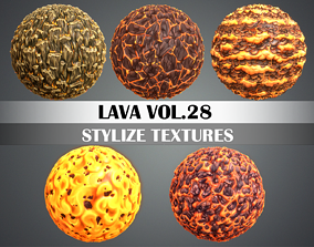 3D model Stylized Lava Vol 28 - Hand Painted Texture