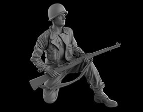 USA Soldier with rifle 1930 16 35 3D printable model