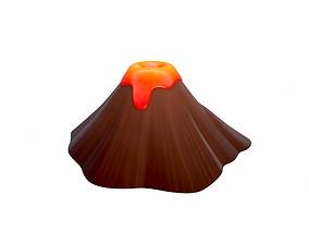 3D model scene Volcano