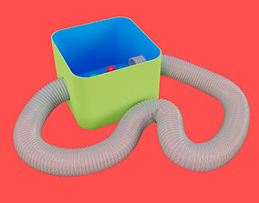Hamster Plastic Tunnel Box 3D asset