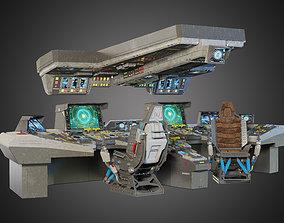3D model spaceship bridge interior