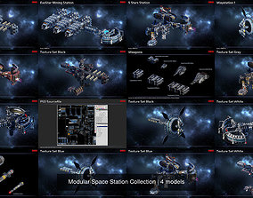 Modular Space Station Collection 3D model PBR