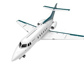 Hawker 125 plane 3D