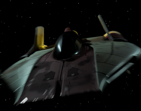 3D asset A-Wing Starfighter