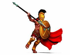 Spartan hero - 35 mm scale 3D printable model