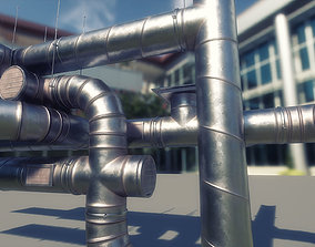 ventilation modular kitbash 3D asset