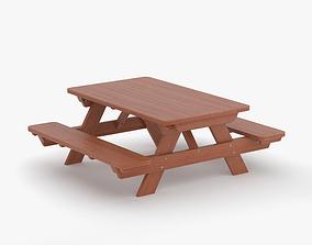 3D model interrior Picnic Table