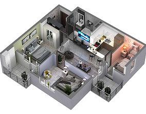 3D floor plans apartment