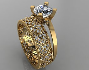 3D printable model GC GOLD TW0137- Diamond ring