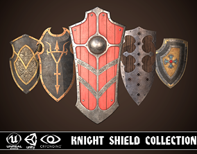 3D model Knight Shield Collection