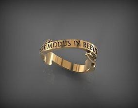 3D print model Ring EST MODUS IN REBUS