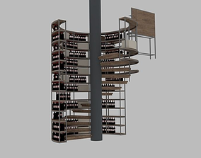 Spiral Staircase and cocktail bar 3D model