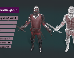 TAB Medieval Knight - 6A - Skin1 3D asset