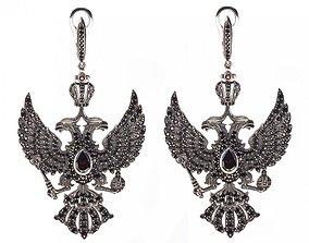 Russia Imperial Earrings 3D print model