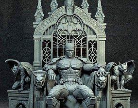 BATMAN ON THRONE - 3D PRINTABLE FIGURE