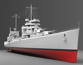 Watercraft 2 - Heavy Cruiser Ship 3D