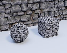 Stylized Rock Wall 01 Material 3D model