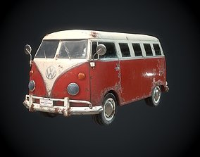 3D asset VR / AR ready Classic VW Bus for Games