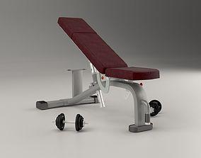 Gym pushing bench 3D model