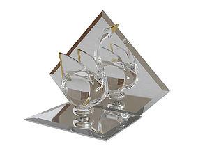 Crystal swan 3D print model