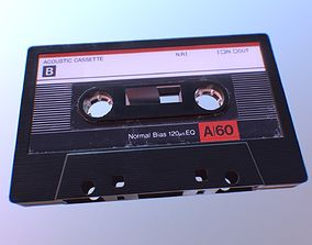 Cassette Tape galaxy 3D model low-poly
