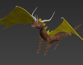 Dragon with wings 3D