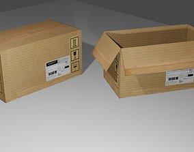 Cardboard Box - Package - Caixa Papelao 3D asset