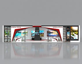 Booth Exhibition Stand Stall 16x4m Height 350 cm 1 3D 1