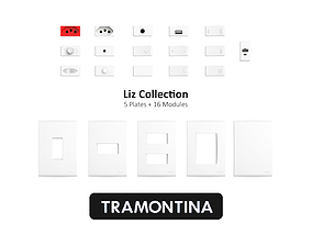3D model Tramontina Liz Collection White
