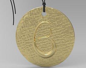 3D print model Alphabet Latin E simbol