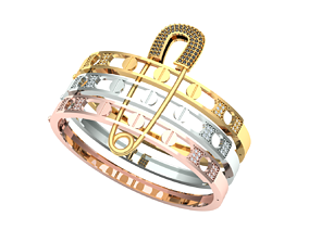 pin bracelet 3D