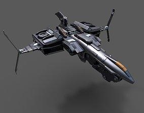 realtime Scifi space ship Starship 3D model